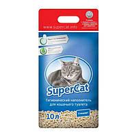 Super Cat (Супер Кэт) Древесный наполнитель для туалета стандарт, 3кг (синий).