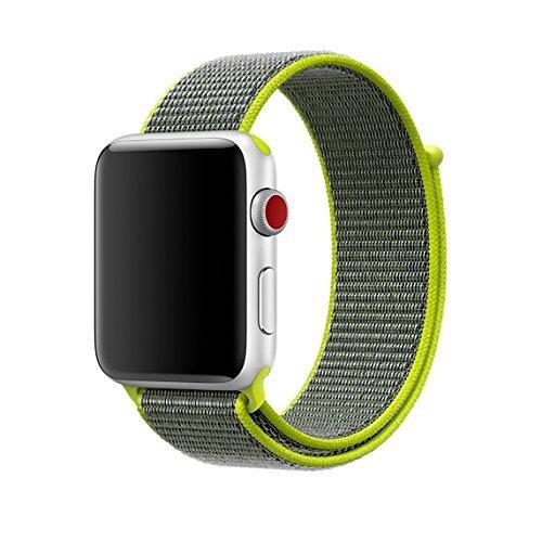 Ремешок Fitness для Apple Watch Series 2 Sport Loop 42 mm Flash Light Green 123155, КОД: 178454