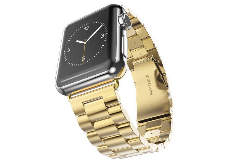 Браслет Grand Steel Watch Band for Apple Watch 38mm Gold AL84438mm, КОД: 178813