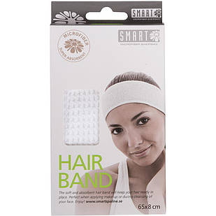 Повязка для волос из микрофибры SMART Microfiber System белого цвета
