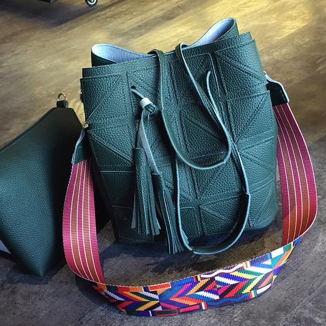 Женская сумка 2 в 1 зеленый
