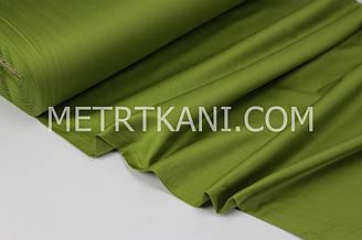 Сатин  премиум, оливкового цвета ширина 240 см № ПС-0040