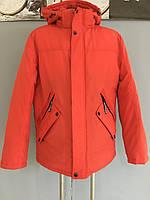 Зимняя Мужская куртка пуховик с капюшоном не стеганная