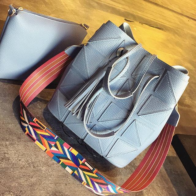 Женская сумка 2 в 1 серый