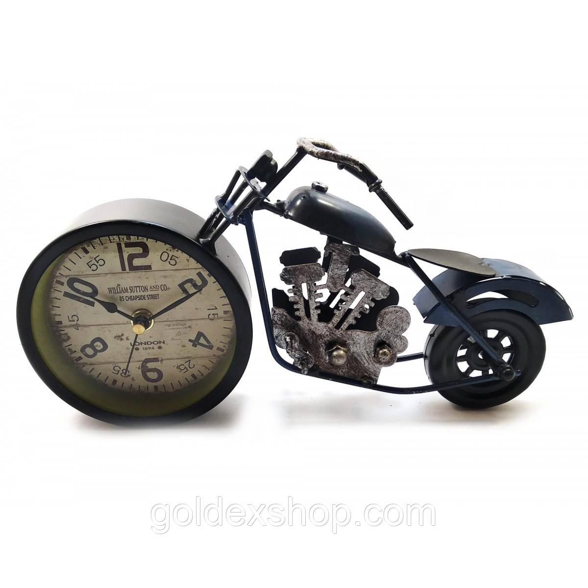 "Часы настольные ""Мотоцикл"" синие (28х15х7,5 см)"