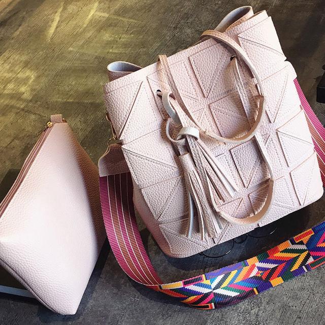 Женская сумка 2 в 1 розовый