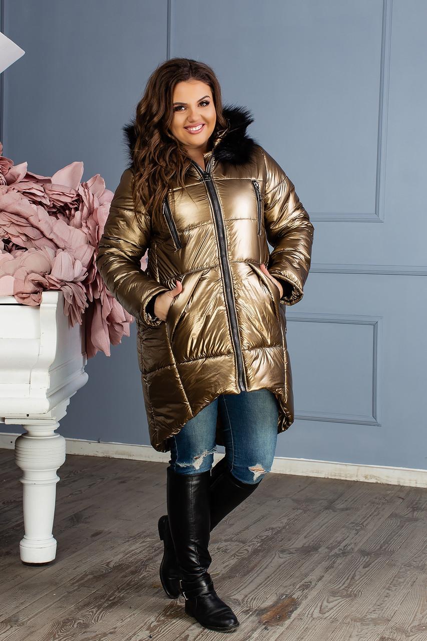 Женская зимняя куртка больших размеров (р.48-58)