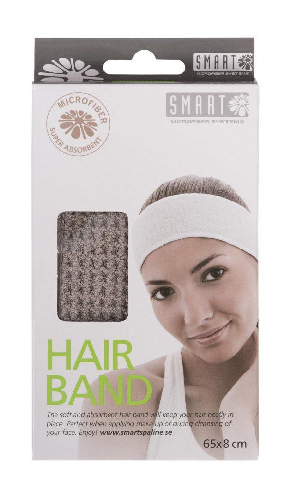 Повязка для волос из микрофибры SMART Microfiber System сероого цвета
