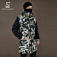 Зимняя мужская куртка ТУР Grizli камуфляжная S