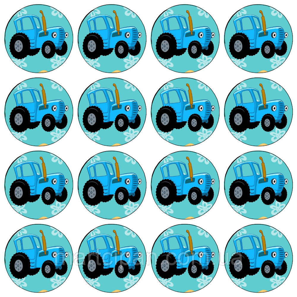 Синий трактор 9 вафельная картинка: продажа, цена в ...