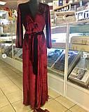 Жіночий велюровий домошний халат, фото 2