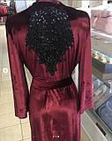 Жіночий велюровий домошний халат, фото 3