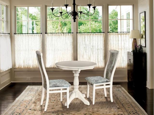 Комплект мебели Чумак 2 + стулья Чумак-2 (2 шт) слоновая кость