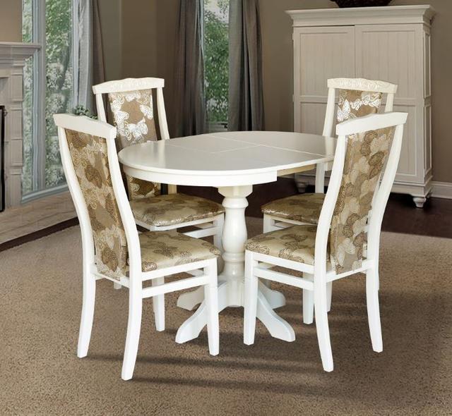 Комплект мебели Чумак 2 + стулья Чумак-2 (4 шт) слоновая кость