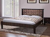 Двухспальная кровать- Рубин из массива клена, с мягким изголовьем.