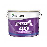 Полуглянцевая акрилатная краска для внутренних работ Teknos Timantti 40 9 л