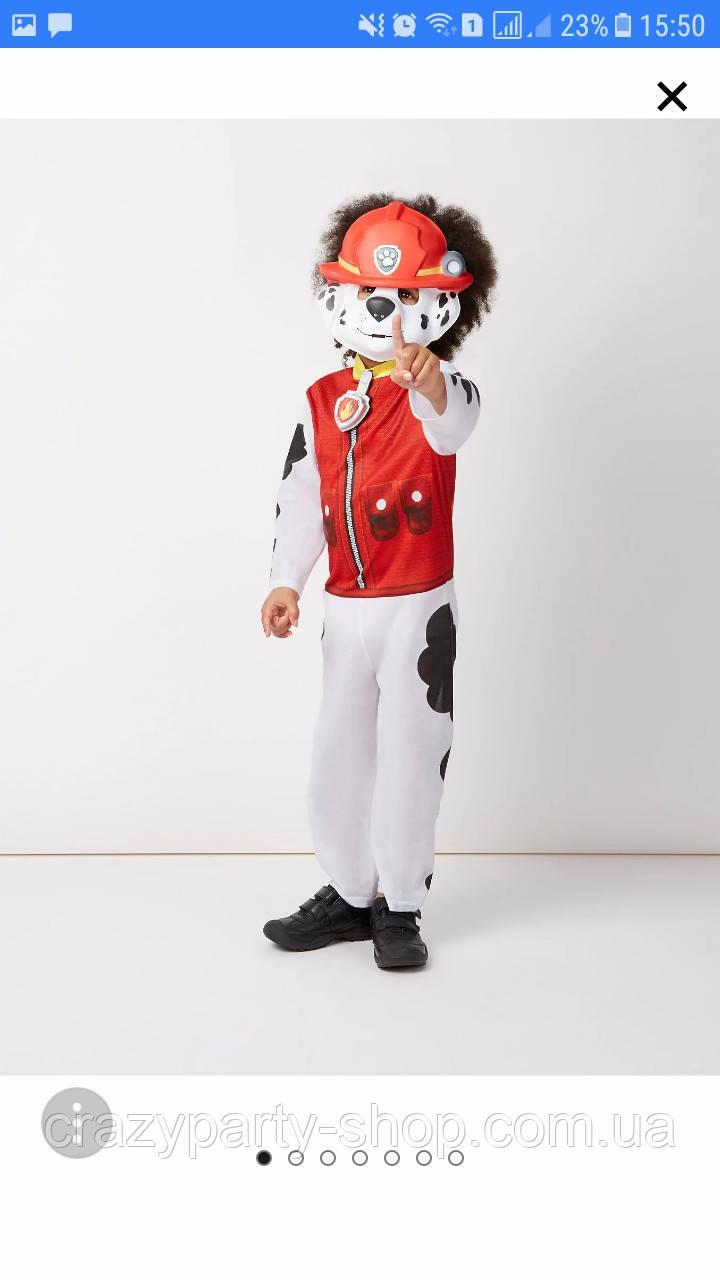 Карнавальный костюм Щенячий патруль 3-4 года Маршалл со звуком