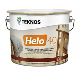 Напівглянцевий зносостійкий лак для зовнішніх і внутрішніх робіт Teknos Helo 40 прозорий 9 л
