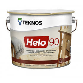 Глянцевий зносостійкий лак для зовнішніх і внутрішніх робіт Teknos Helo 90 прозорий 9 л