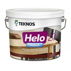 Напівматовий водорозчинний лак для паркету і дерев'яної підлоги Teknos прозорий 9 л Helo Aqua 20