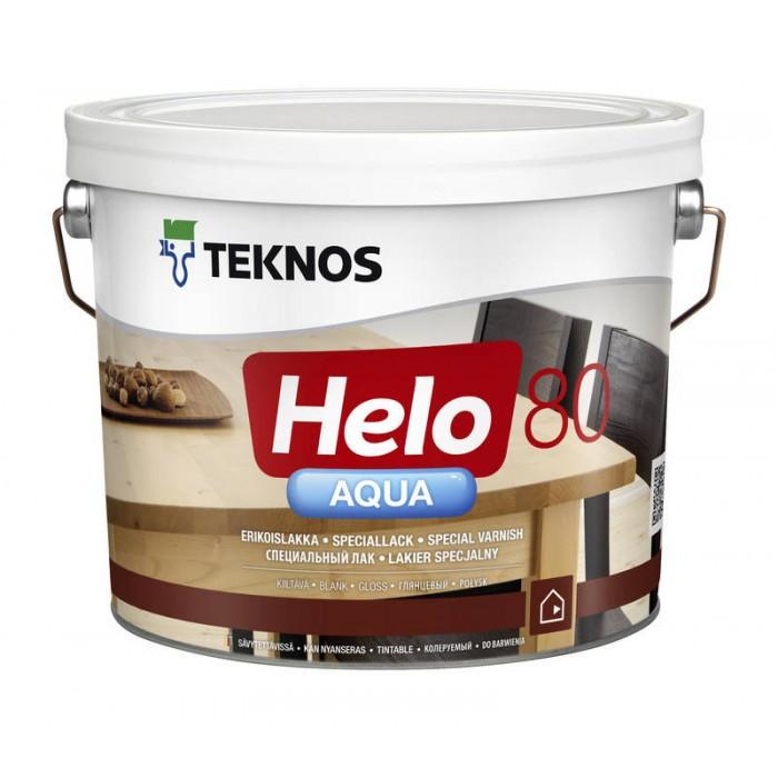 Глянцевый водоразбавляемый специальный лак Teknos Helo Aqua 80 9 л