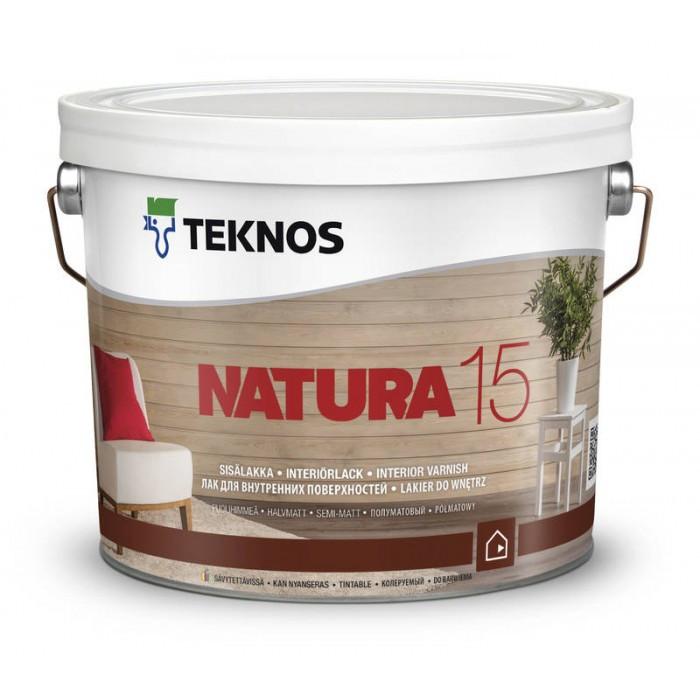 Полуматовый лак для внутренних поверхностей Teknos Natura 15 9 л
