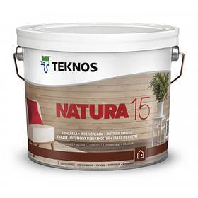 Напівматовий лак для внутрішніх поверхонь Teknos Natura 15 9 л