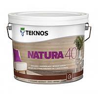 Полуглянцевый лак для внутренних поверхностей Teknos Natura 40 9 л