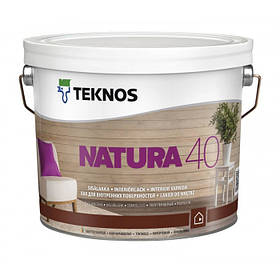 Напівматовий лак для внутрішніх поверхонь Teknos Natura 40 9 л