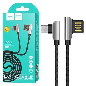 Кабель USB Micro Hoco U42 Exquisite Steel 1.2m черный