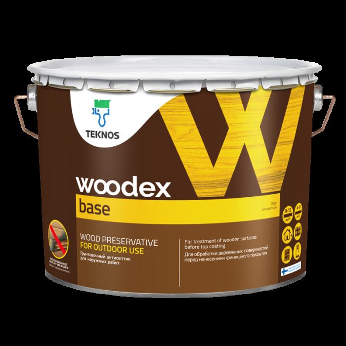 Ґрунтувальний антисептик для захисту деревини Teknos Woodex Base прозорий 10 л