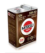 Синтетическое моторное масло Mitasu GOLD SN 5W-30 ILSAC GF-5 (MJ-101) 4л (1л, 20л)