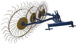Грабли ворошилки (Солнышко) 4-ёх колесные Ø 6 мм Украина