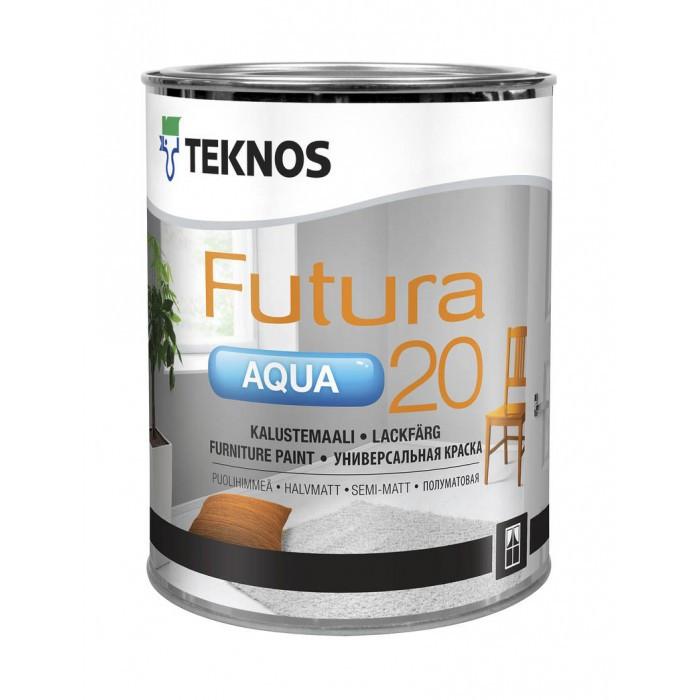 Полуматовая универсальная краскаTeknos Futura Aqua 20 9 л