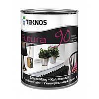 Глянцевая универсальная краска для дерева и металла Teknos Futura 90 9 л