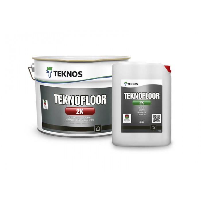 Глянцевая 2-компонентная краска для бетона Teknos Teknofloor 2K 4,5 л