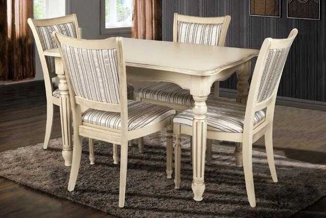 Комплект мебели Венеция + Сицилия слоновая кость (4 стульев)