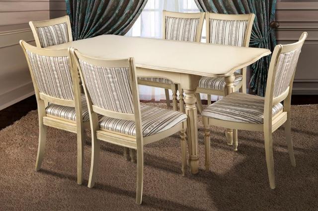 Комплект мебели Венеция + Сицилия слоновая кость (6 стульев)