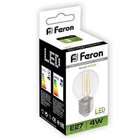Светодиодная лампа 4W E27 230V 2700K (теплый белый)
