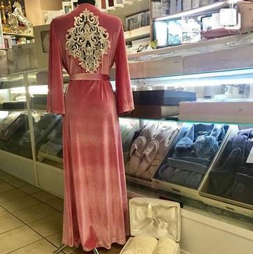 Женский велюровый домошний халат