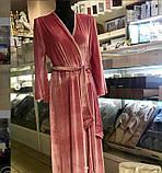 Женский велюровый домошний халат, фото 2