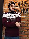 Зимний свитер мужской бордовый от бренда Morning Star размер S, M, L, фото 2