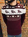Зимний свитер мужской бордовый от бренда Morning Star размер S, M, L, фото 4