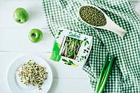 МУНГ МАШ Микрозелень, семена бобы мунга маша органического для употребления в пищу и для проращивания 200 г, фото 1
