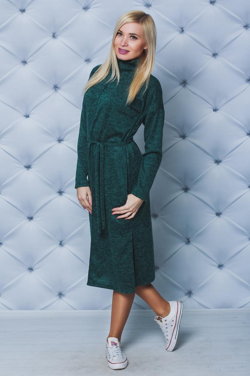 Повседневное платье длинное бирюза