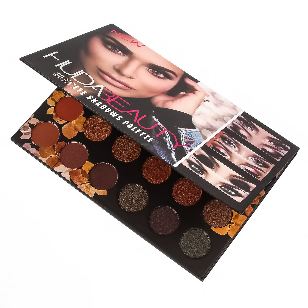 Палитра теней HUDA BEAUTY Eye Shadows Pallet 3D 24 в 1