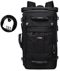 Туристический рюкзак-сумка Kaka 2050, с кодовым замком, 40л