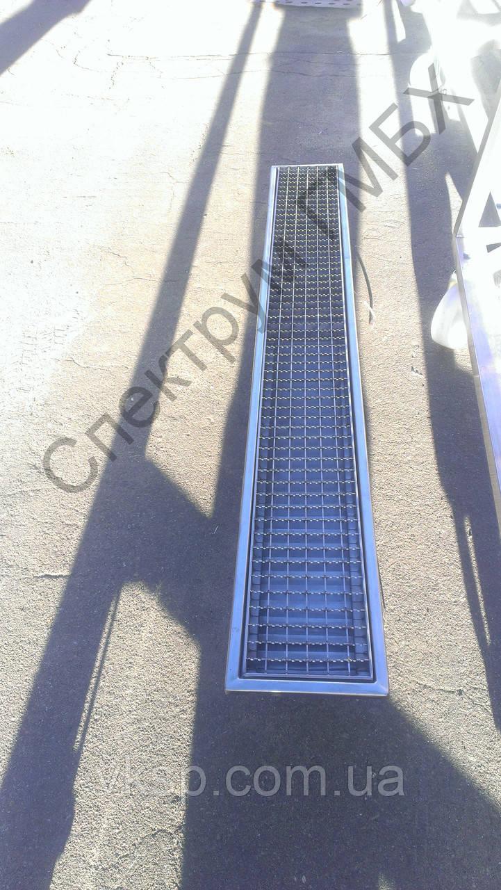 Канализационный лоток 1500х200 с трапом для отвода воды