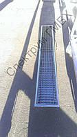 Канализационный лоток 1500х200 с трапом для отвода воды, фото 1