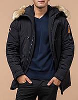 """Очень теплая зимняя  куртка-парка зимняя мужская черная модель Braggart """"Arctic"""".(раз 48-56)"""